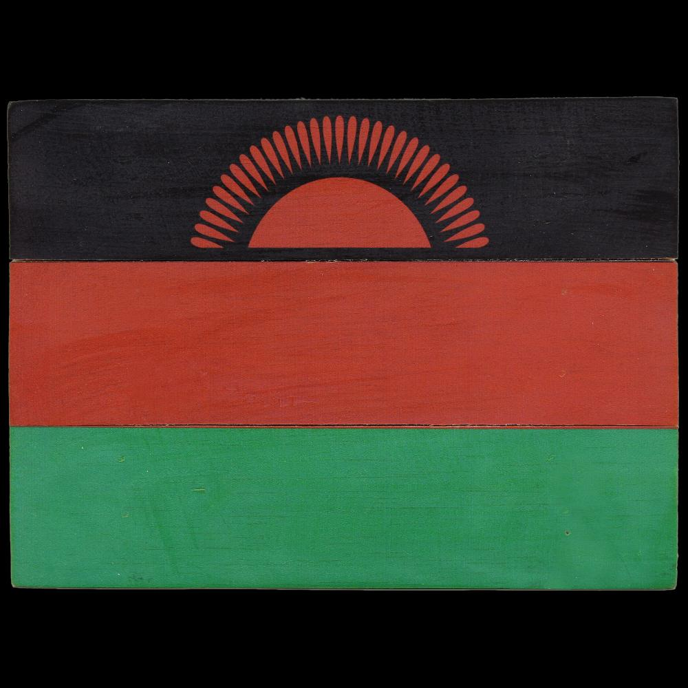 Malawi Flag Africa Wooden Sign-Handicrafts-Peaceful People