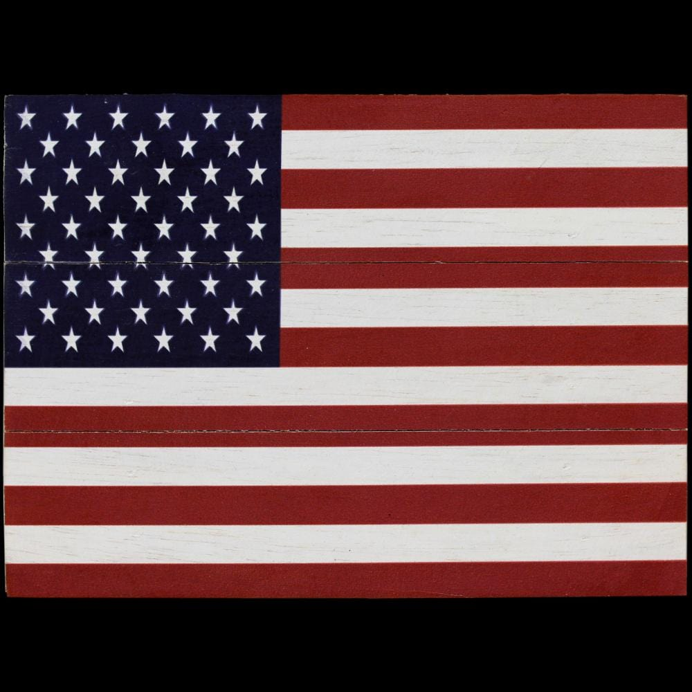 USA Flag Wooden Sign-Handicrafts-Peaceful People