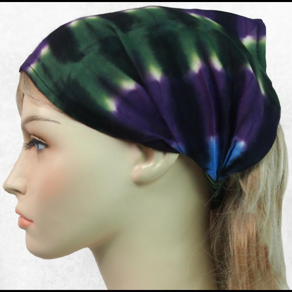 12 Mantra Tie-Dye Elastic Bandana-Headbands ($1.60 each)-Bags & Accessories-Peaceful People