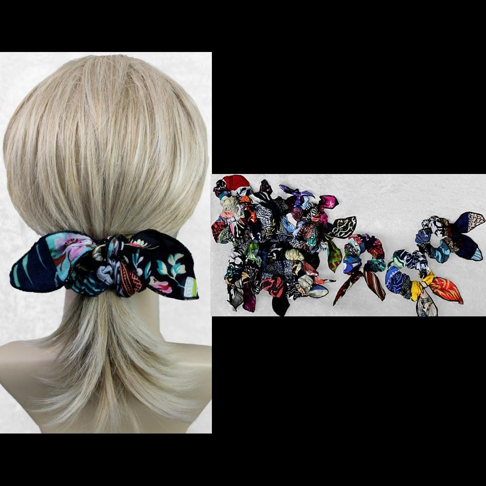 15 Patchwork Big Bow Hair Scrunchies ($2.04 each)-Bags & Accessories-Peaceful People