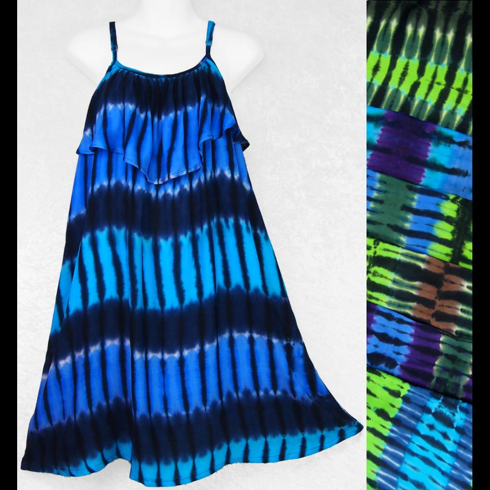Mantra Tie-Dye Moon Dress-Dresses-Peaceful People