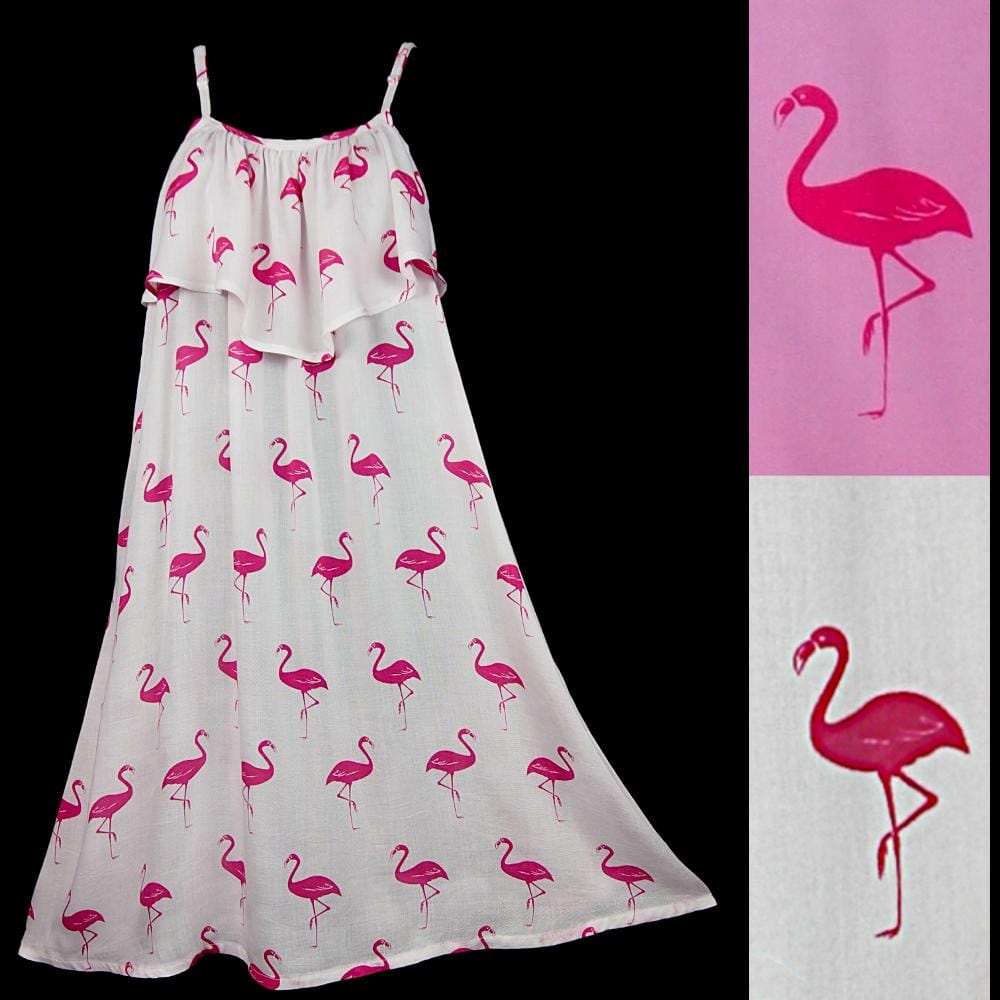 Flamingo Moon Dress-Dresses-Peaceful People