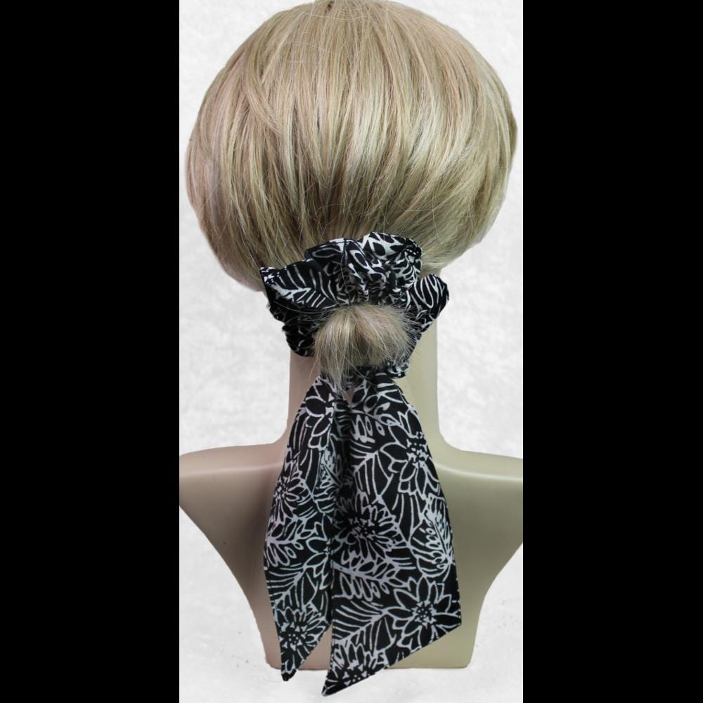 25 Premium Black & White Pony Tail Hair Scrunchies ($2.20 each)-Bags & Accessories-Peaceful People