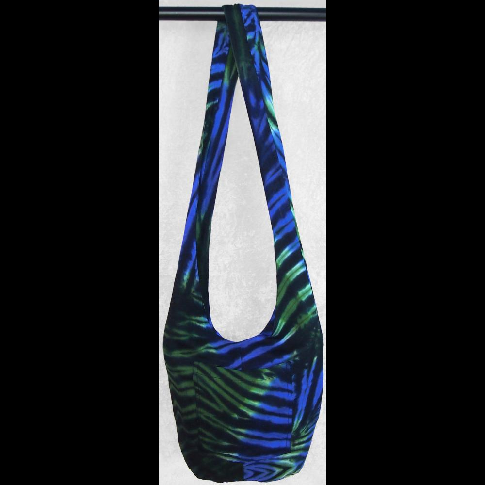 Polychromatic Tie-Dye Boho Shoulder Bag-Bags & Accessories-Peaceful People