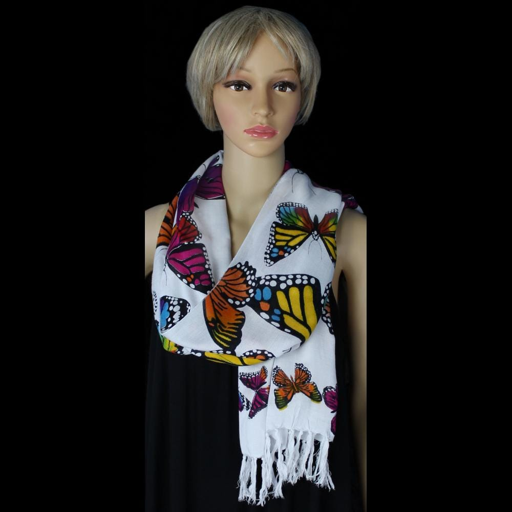 Monarch Wide Scarf/Shawl-Sarongs-Peaceful People