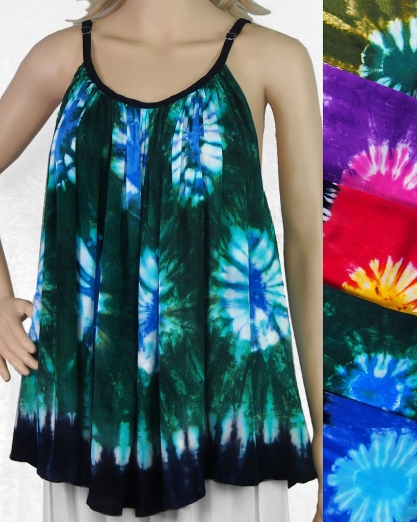 Suns Tie-Dye Cami Top-Tops-Peaceful People