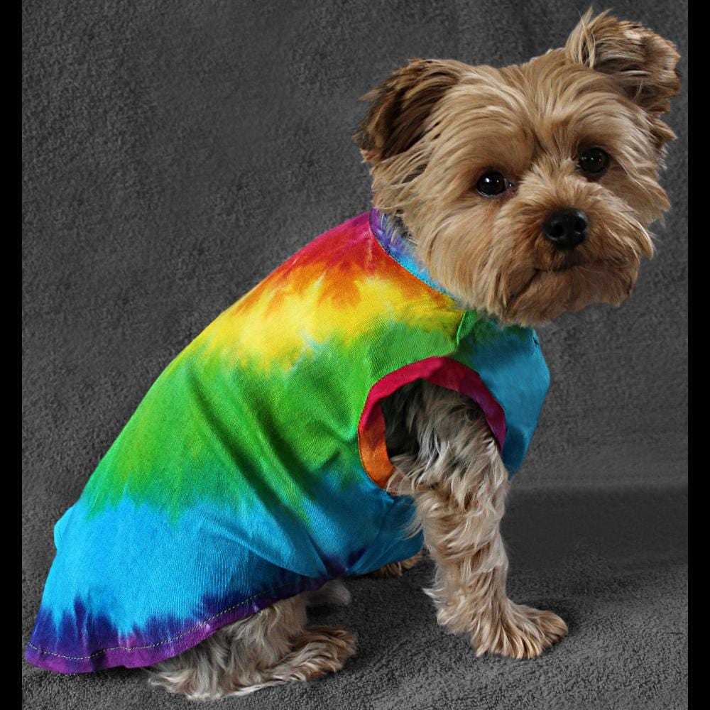 Dog's Rainbow Spiral Tie-Dye Jumpsuit-Bags & Accessories-Peaceful People