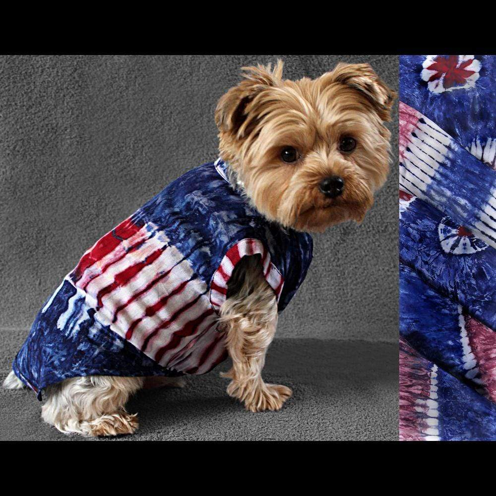 Dog's Red, White and Blue Tie-Dye Jumpsuit-Bags & Accessories-Peaceful People