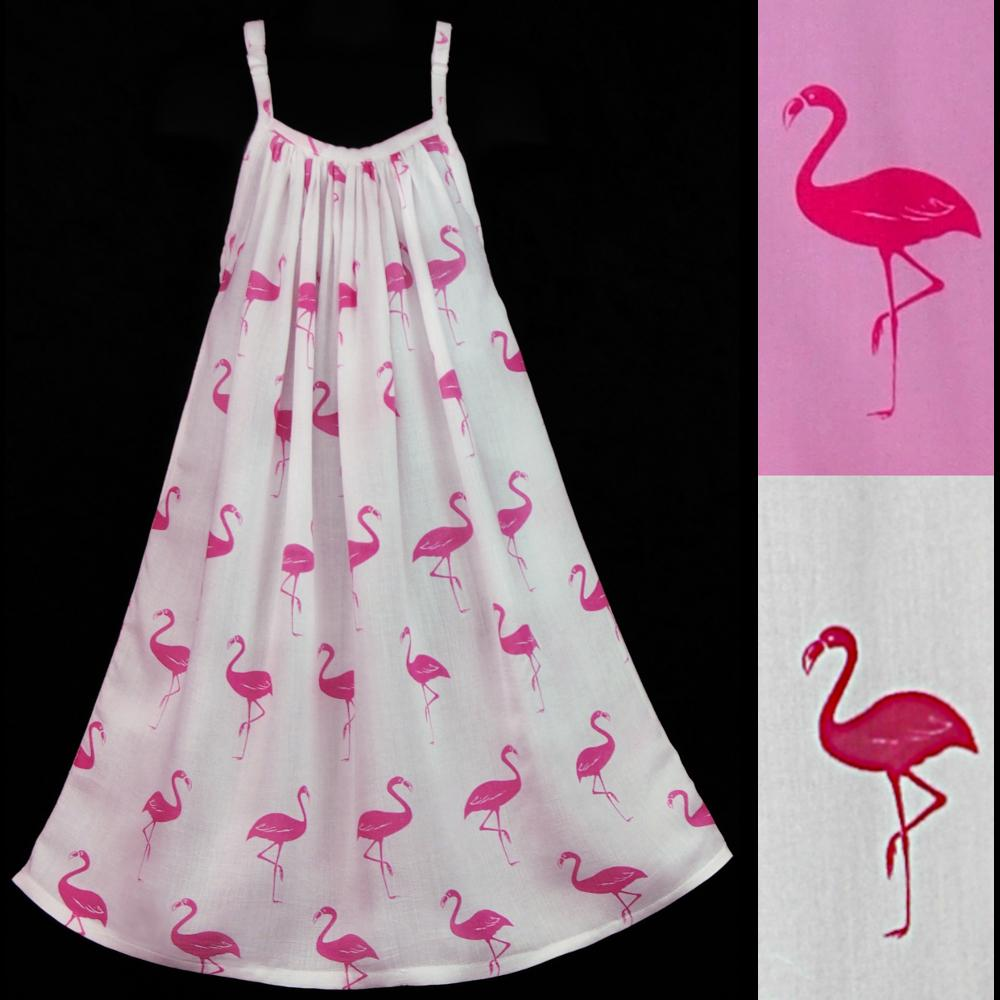 Girl's Flamingo Parachute Dress-Children's Clothes-Peaceful People