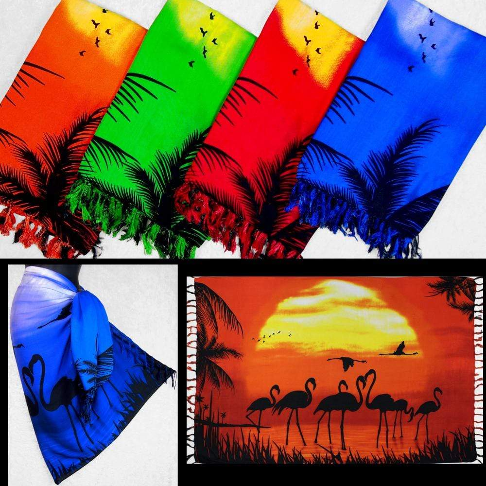 Flamingo Sunset Sarongs-Sarongs-Peaceful People