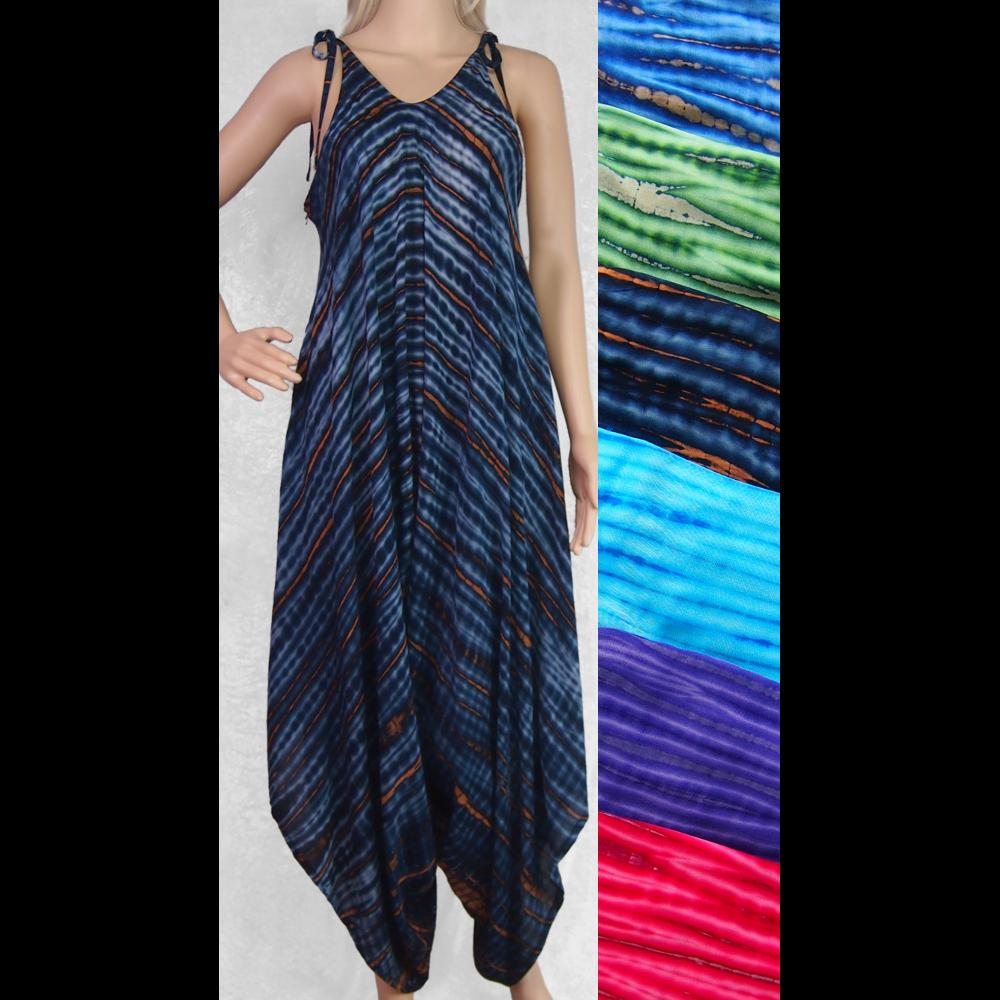 Coffee Tie-Dye Divided Dress-Dresses-Peaceful People