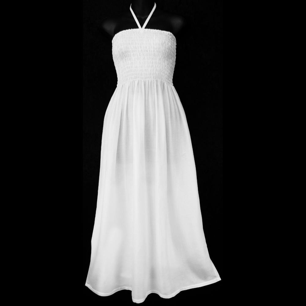 White Center Strap Dress-Dresses-Peaceful People