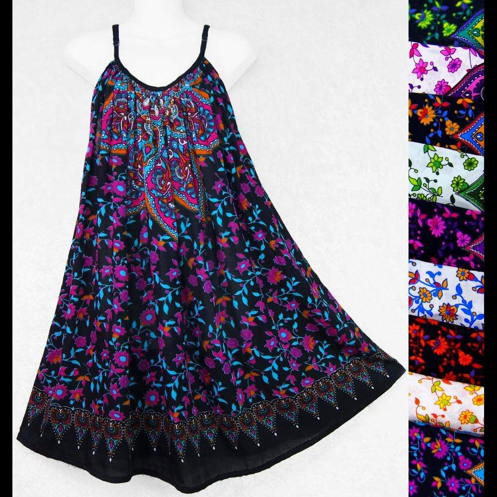 Star Mandala Parachute Dress-Dresses-Peaceful People