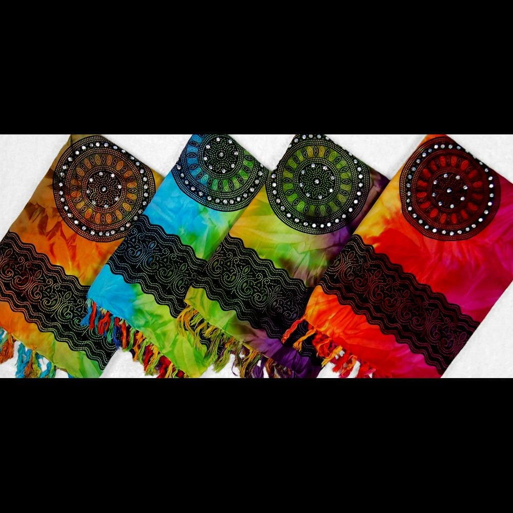 Tie-Dye Padma Sarongs with Sequins-Sarongs-Peaceful People
