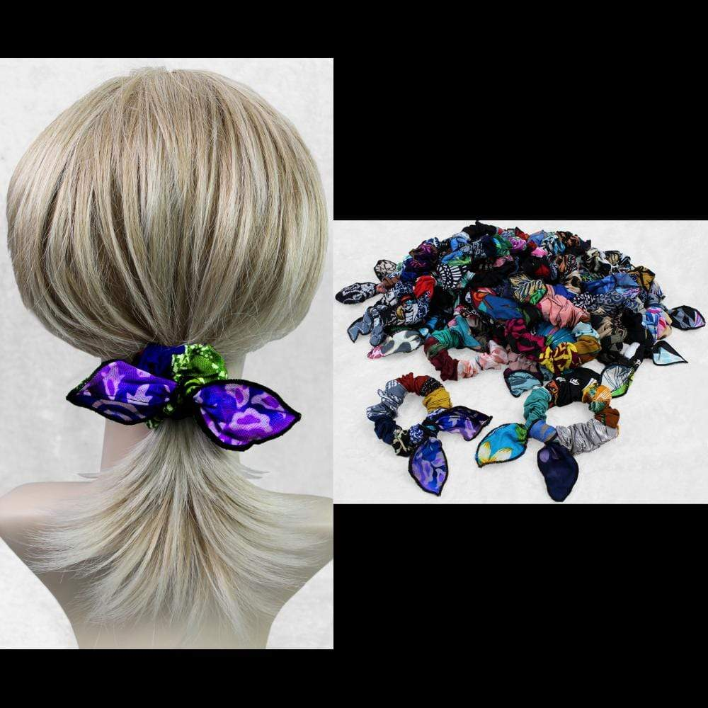 Patchwork Little Bow Hair Scrunchies ($1.70)-Bags & Accessories-Peaceful People