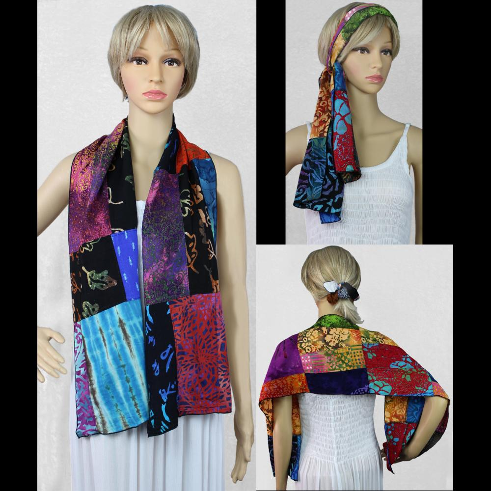 Patchwork Scarf-Sarongs-Peaceful People