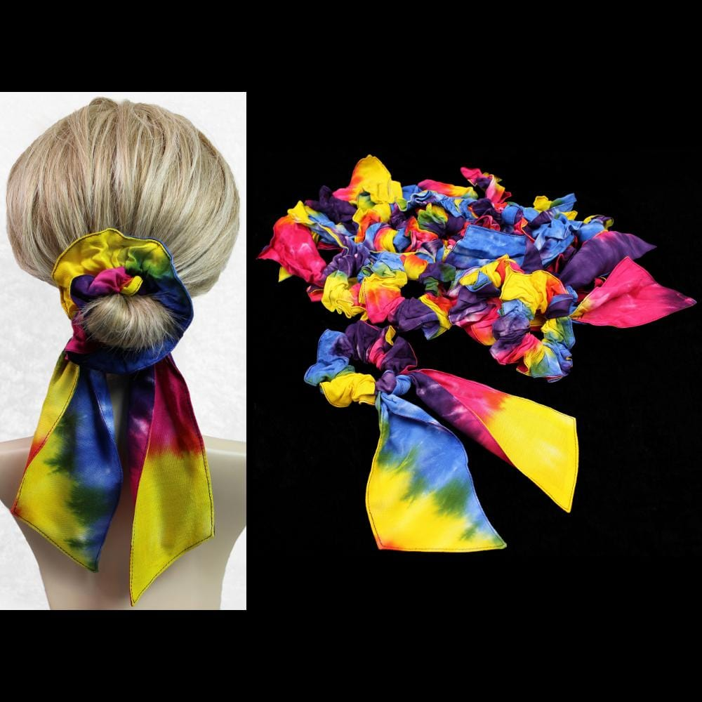 25 Snazzy Pony Tail Hair Scrunchies ($1.50 each)-Bags & Accessories-Peaceful People