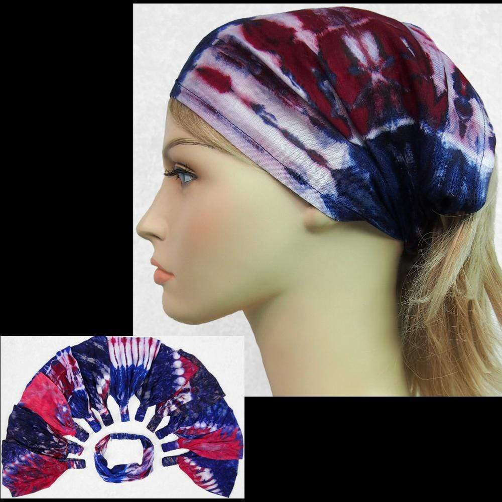 12 Red, White and Blue Elastic Bandana-Headbands ($1.60 each)-Bags & Accessories-Peaceful People