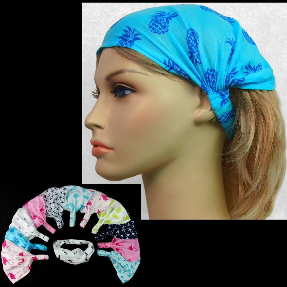 12 Seashore Elastic Bandana-Headbands ($1.60 each)-Bags & Accessories-Peaceful People