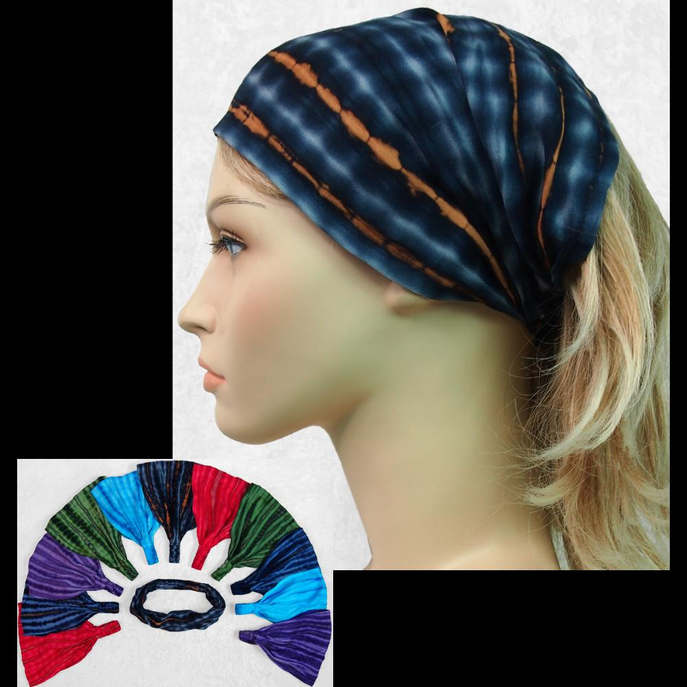 12 Coffee Tie-Dye Elastic Bandana-Headbands ($1.60 each)-Bags & Accessories-Peaceful People