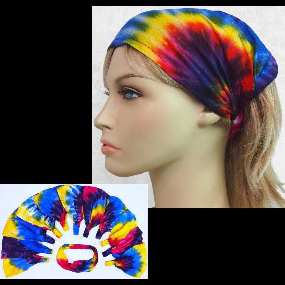 12 Snazzy Elastic Bandana-Headbands ($1.60 each)-Bags & Accessories-Peaceful People