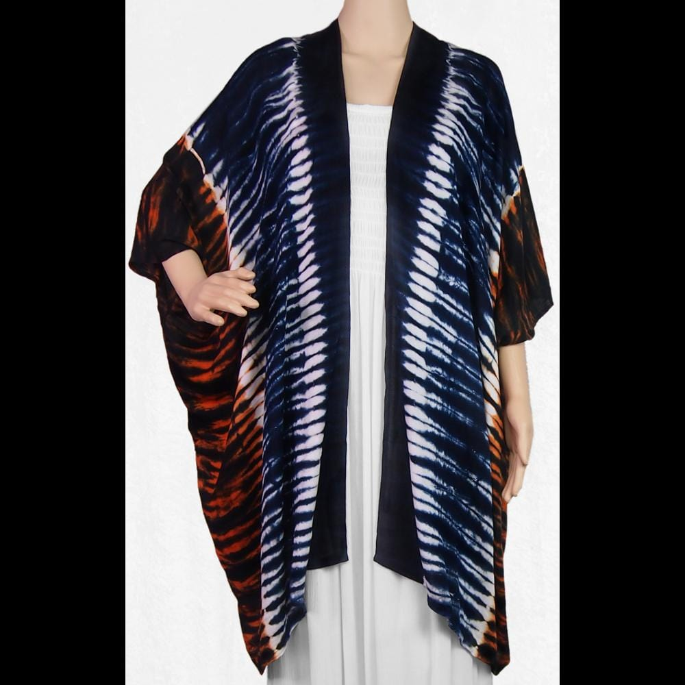 Tiger Tie-Dye Kimono-Tops-Peaceful People