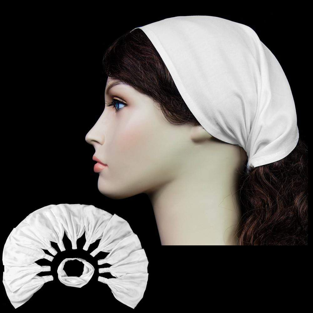 12 Premium White Elastic Bandana-Headbands ($1.82 each)-Tie-Dye Blanks/White Clothing-Peaceful People