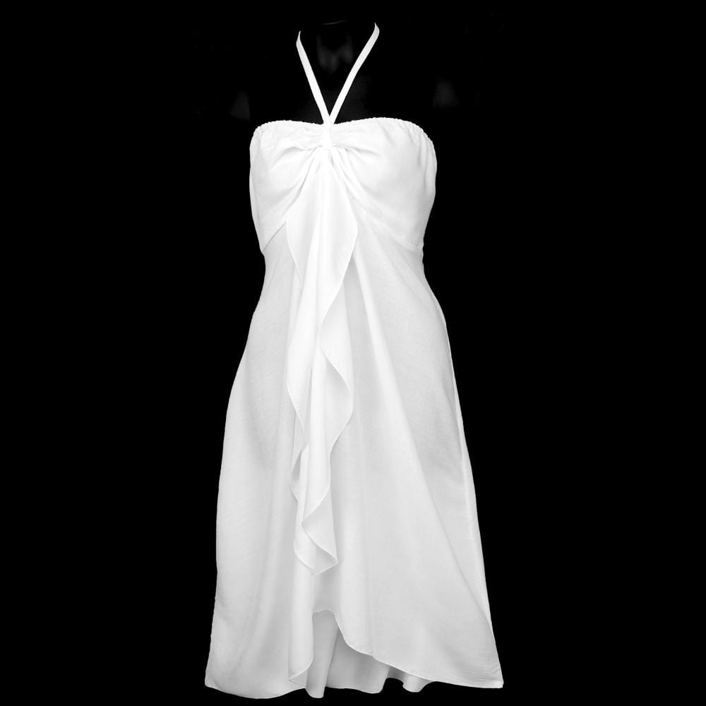 White Cascade Dress-Dresses-Peaceful People