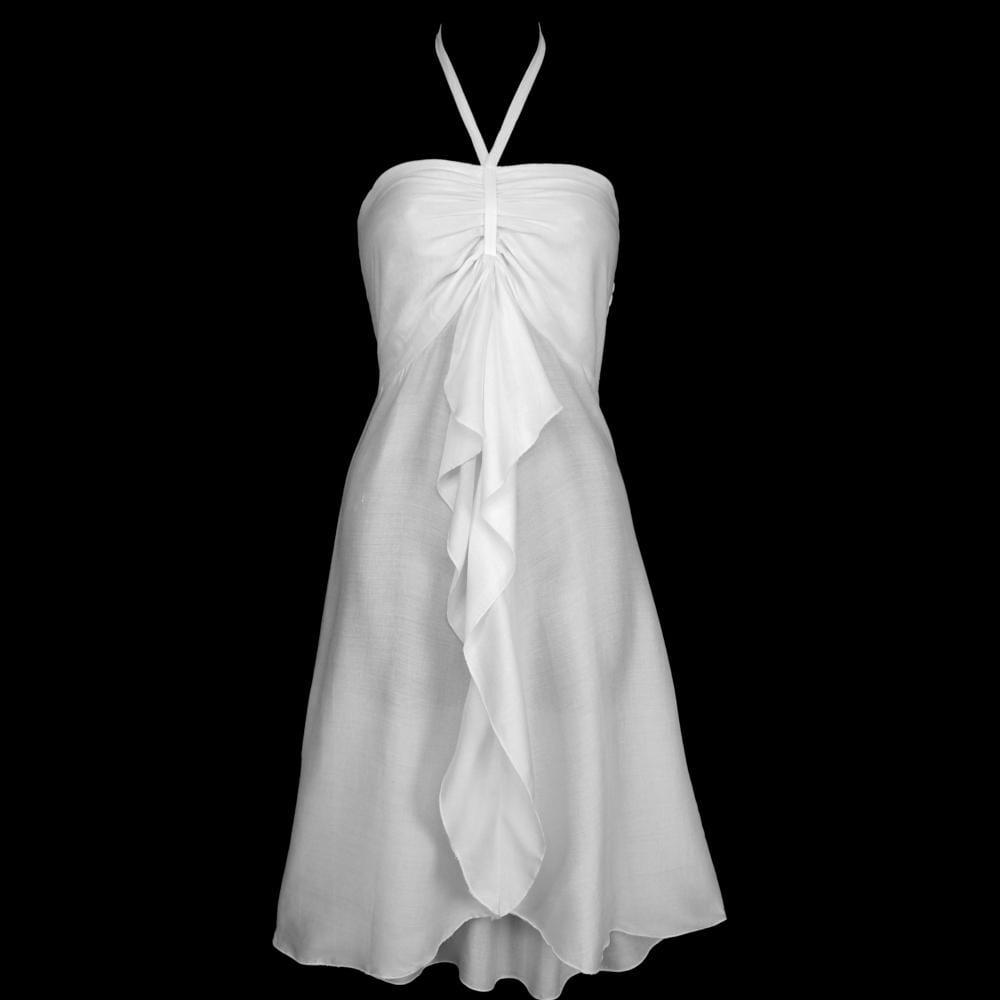 Gigi's White Front Ruffle Dress-Dresses-Peaceful People