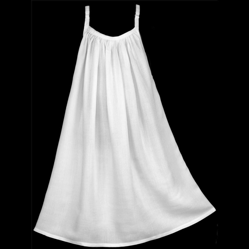 Girl's White Parachute Dress (Ages: 4, 6, 8, 10, 12)-Children's Clothes-Peaceful People