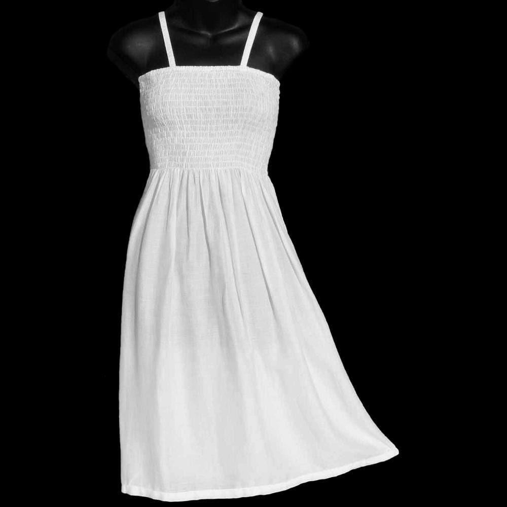 White Sarong Dress-Dresses-Peaceful People