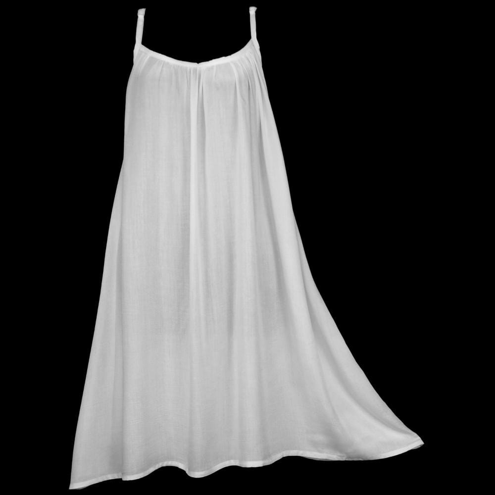 White Parachute Dress #2-Dresses-Peaceful People