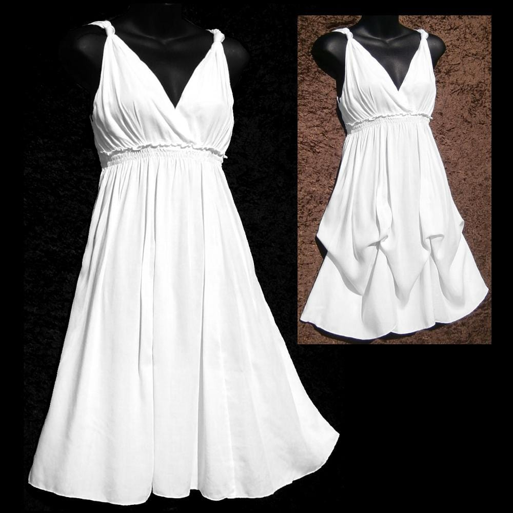 Chelsea's White Rayon Dress-Dresses-Peaceful People