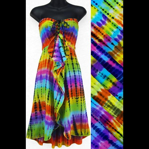 Antique Tie-Dye Gigi Dress-Dresses-Peaceful People