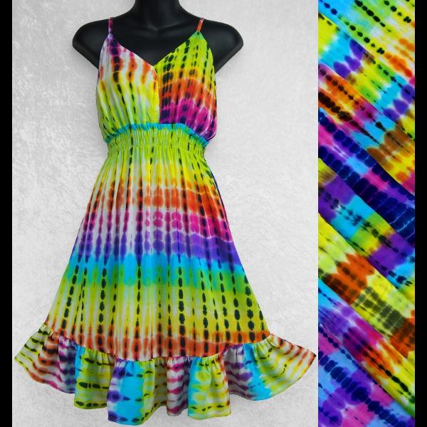 Antique Tie-Dye Star Dress-Dresses-Peaceful People