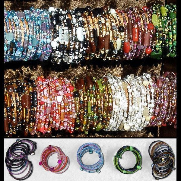 12 Art Glass Cuff Bracelets ($2.25 each)-Bracelets & Jewelry-Peaceful People