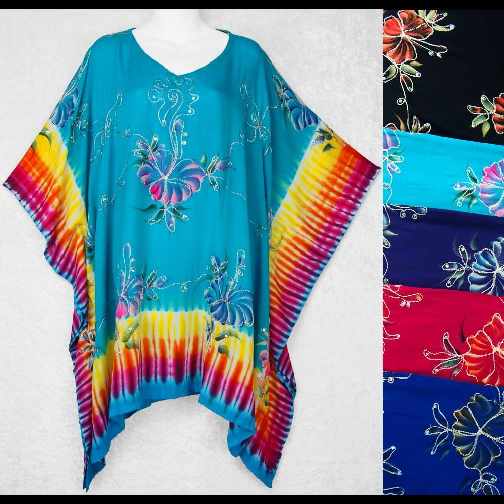 Astral Tie-Dye Embroidered Top-Tops-Peaceful People