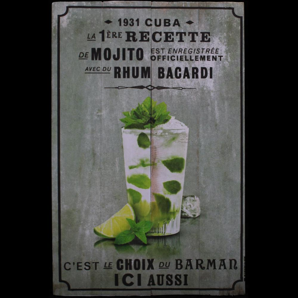 Mojito Green Wood Sign-Handicrafts-Peaceful People
