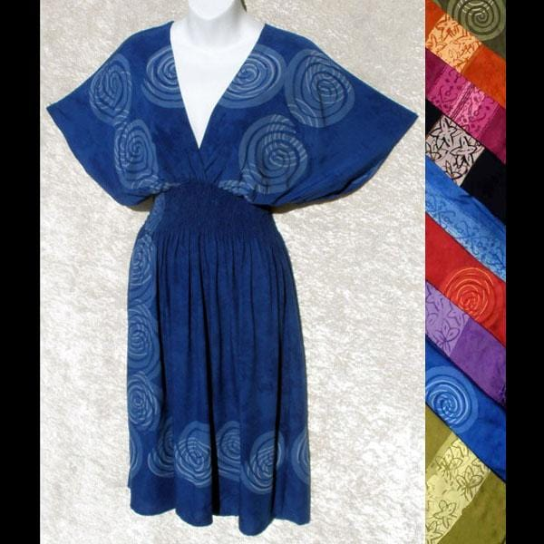 Batik Border Japan Dress-Dresses-Peaceful People