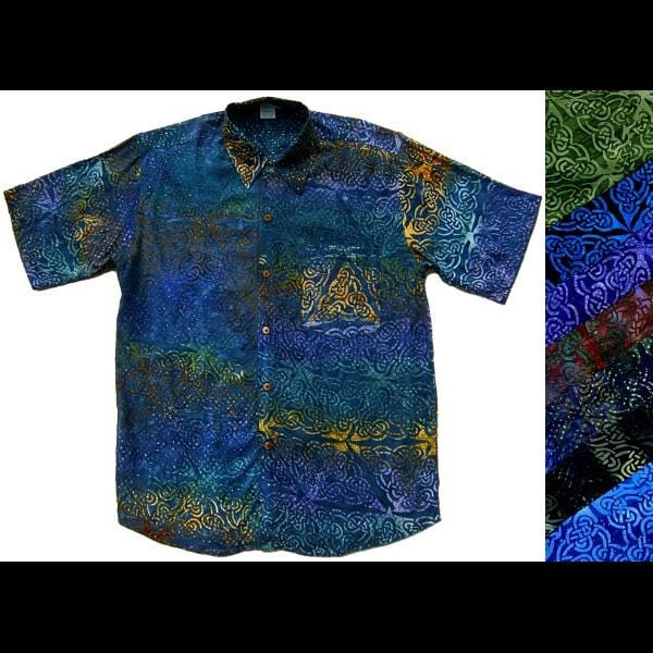 Celtic Batik Shirt-Shirts-Peaceful People