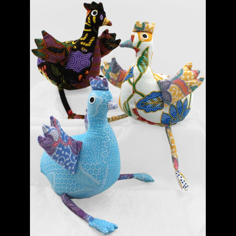 Antique Batik Chicken-Handicrafts-Peaceful People