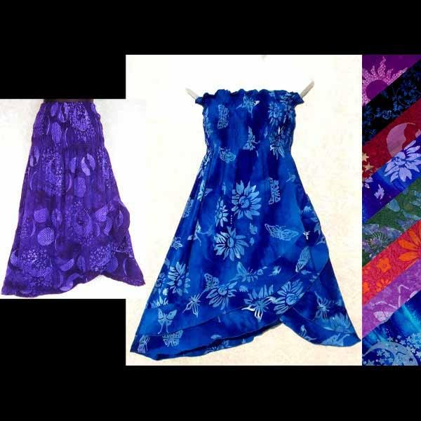 Bonita's Batik Convertible Dress/Skirt-Dresses-Peaceful People