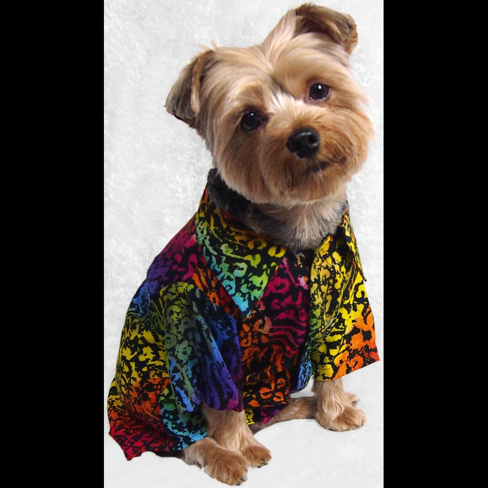 Dog's Premium Batik Shirt-Bags & Accessories-Peaceful People