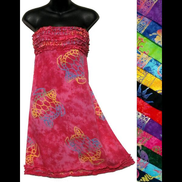Batik Frilly Sarong Dress-Dresses-Peaceful People