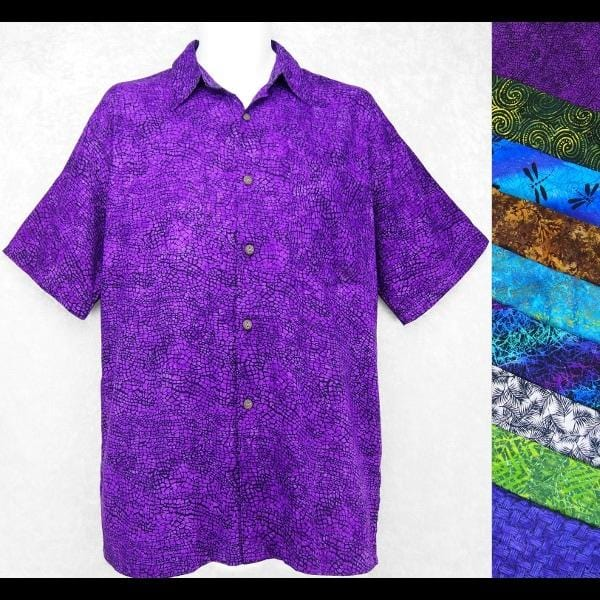 Kevin's Batik Collar Shirt-Shirts-Peaceful People