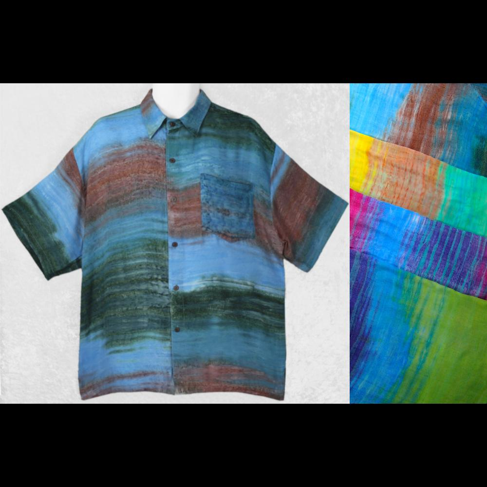 Charlie's Batik Collar Shirt-Shirts-Peaceful People