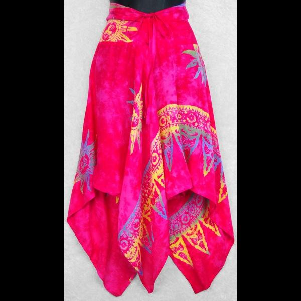 Batik Convertible Top/Skirt-Tops-Peaceful People