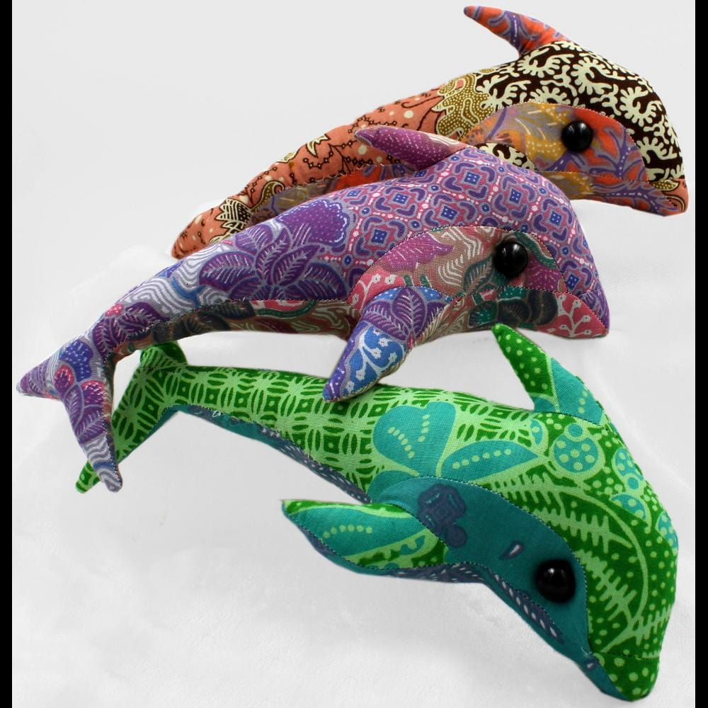 Antique Batik Dolphin-Handicrafts-Peaceful People