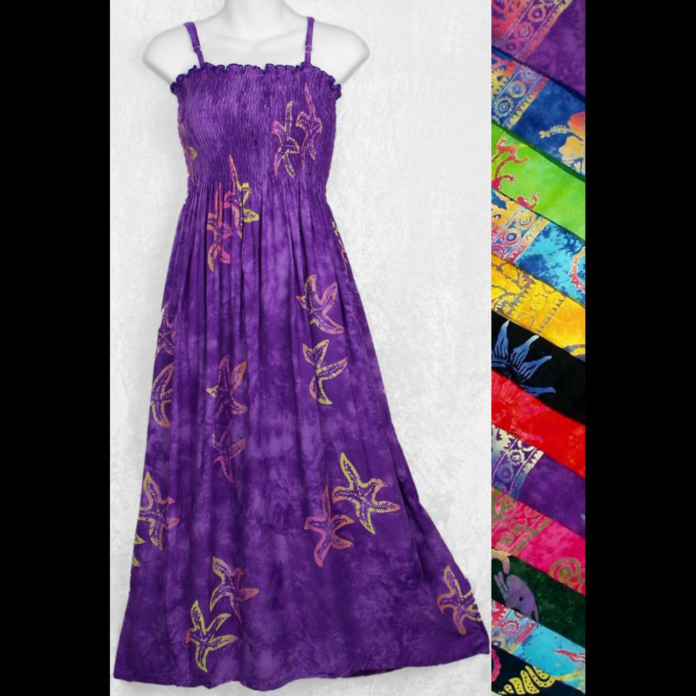 Batik Sarong Dress-Dresses-Peaceful People