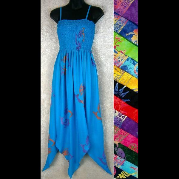 Batik Fairy Sarong Dress-Dresses-Peaceful People